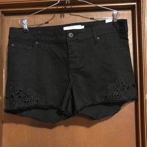 Torrid black shorts with flowers